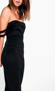Boohoo double strap dress